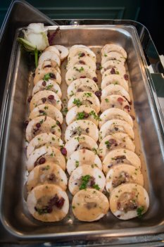 Cranberry ancd Pecan Chicken Roulade with Cranberry Stuffing by Carriage House Caterers