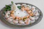 Shrimp & Minted Melon Skewers