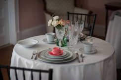 Linens and Tableware provided by All Season Rentals