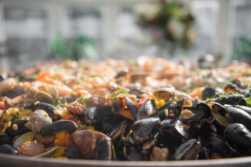 tray of paella
