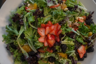 strawberry, mandaran orange, berry salad