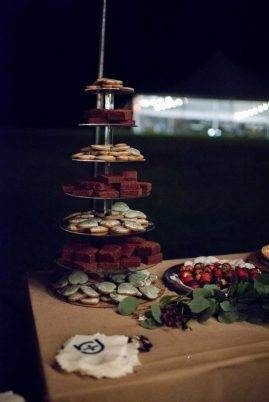 desert tower with cookies and brownies